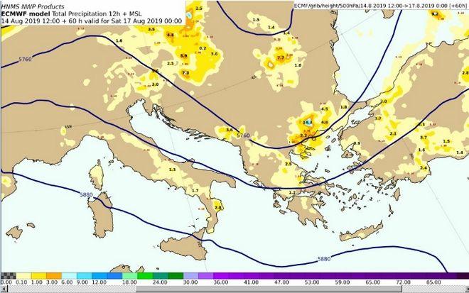 Ο καιρός το Δεκαπενταύγουστο: Επιδείνωση με βροχές και καταιγίδες - Εξασθένιση ανέμων στο Αιγαίο