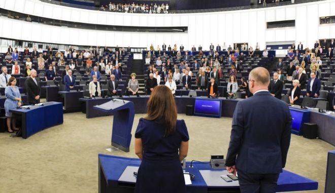 Στιγμιότυπο από την Ολομέλεια του Ευρωπαϊκού Κοινοβουλίου
