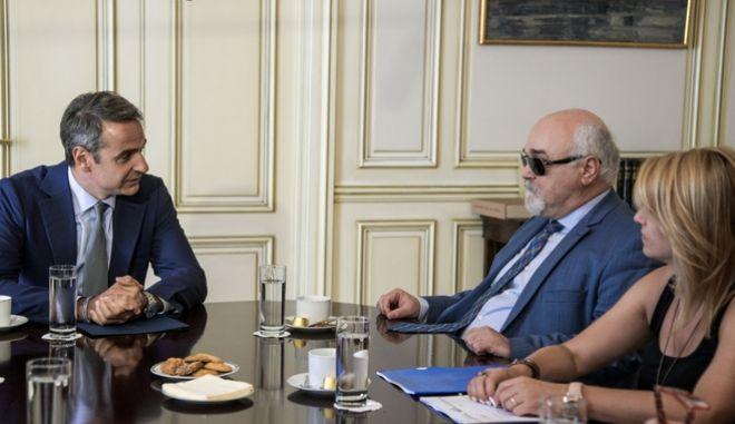 Συνάντηση του Πρωθυπουργού Κυριάκου Μητσοτάκη με τους εκπροσώπους της Εθνικής Συνομοσπονδίας Ατόμων με Αναπηρία.