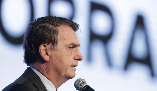 Ο πρόεδρος της Βραζιλίας Μπολσονάρο σε εκδήλωση στην Μπραζίλια