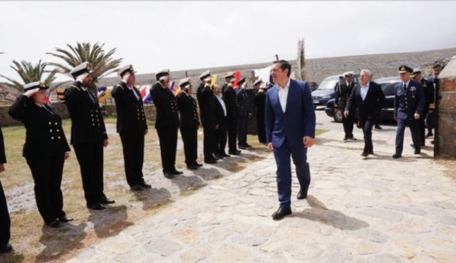 O Πρωθυπουργός κατά την επίσκεψή του