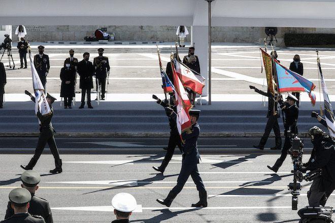 Στρατιωτική παρέλαση για τον εορτασμό των 200 ετών από την ελληνική επανάσταση, 25 Μαρτίου 2021