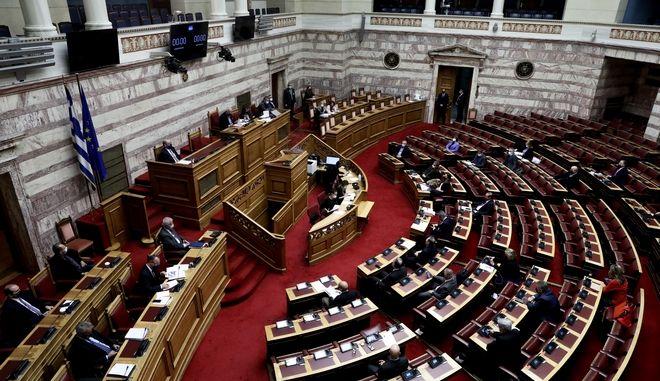 Συζήτηση στη Βουλή για τον προϋπολογισμό.