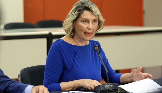 Η υφυπουργός Προστασίας του Πολίτη, Κατερίνα Παπακώστα