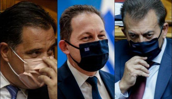 """Τρεις υπουργοί, τρία νομοσχέδια, τρεις """"μετωπικές"""" με την αντιπολίτευση"""