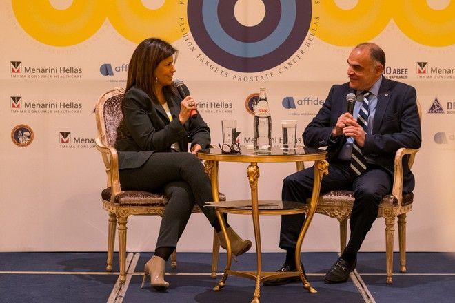 Από αριστερά: πρόεδρος «Στόχος - Πρόληψη» κα. Μαριλένα Στρατοπούλου Κιτσοπάνου, πρόεδρος Ελληνικής Ουρολογικής Εταιρείας κ. Ιωάννης Γκιάλας