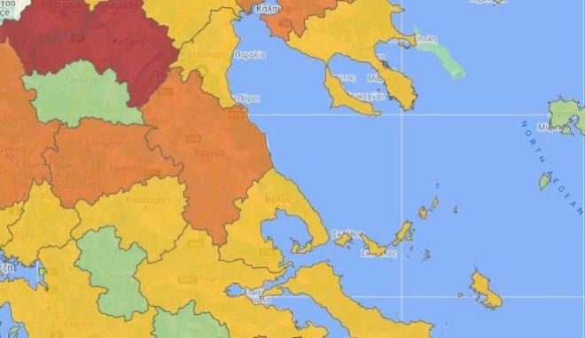 """Κορονοϊός: Ο νέος χάρτης υγειονομικής ασφάλειας - Στο """"κόκκινο"""" Σέρρες και Ιωάννινα"""