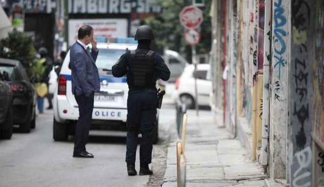 Φωτογραφία από την επιχείρηση της Αστυνομίας στα Εξάρχεια