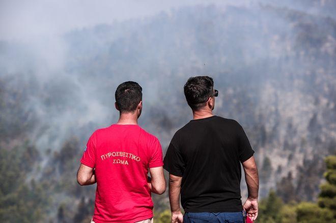 Για τρίτη μέρα μαίνεται η μεγάλη φωτιά στην Εύβοια, με την Πυροσβεστική να καταβάλλει υπεράνθρωπες προσπάθειες για την κατάσβεση στο μέτωπο της Πλατάνας