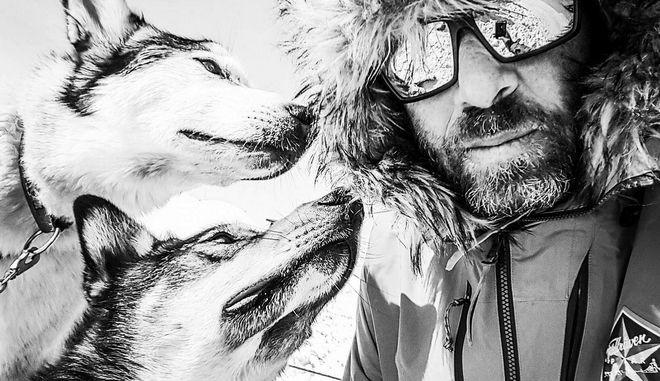 Ο Βαγγέλης Βασιλειάδης διέσχισε τον Αρκτικό Κύκλο με έλκηθρο
