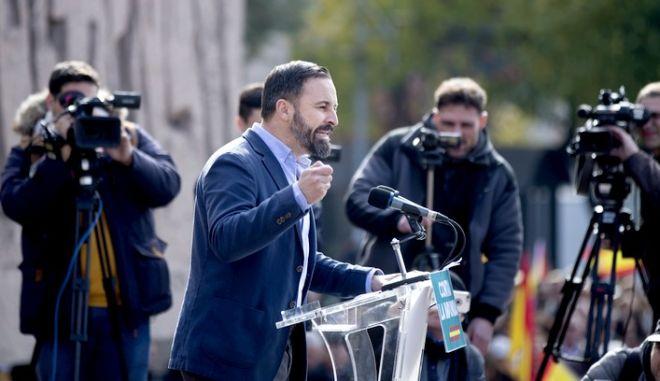 Ο ηγέτης του VOX, Σαντιάγο Αμπασκάλ