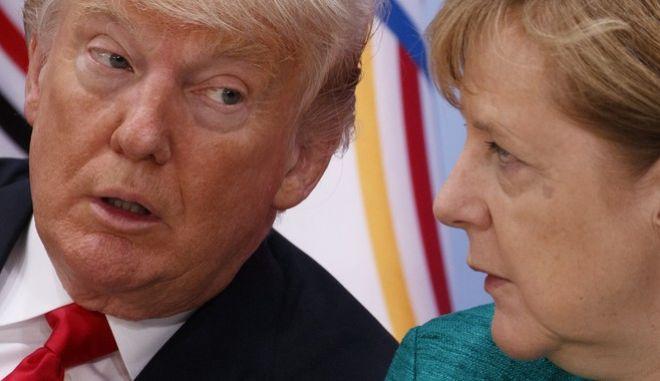 Ο Αμερικανός πρόεδρος και η Γερμανίδα καγκελάριος σε παλαιότερη συνάντηση