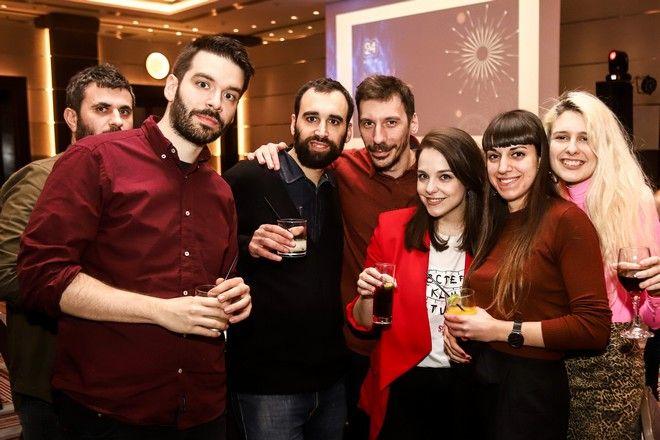 Από αριστερά: Κώστας Μανιάτης, Νίκος Σταματίνης, Κώστας Αμπατζής, Ηλίας Αναστασιάδης, Ιωσηφίνα Γριβέα, Φραντζέσκα Γιατζόγλου-Watkinson
