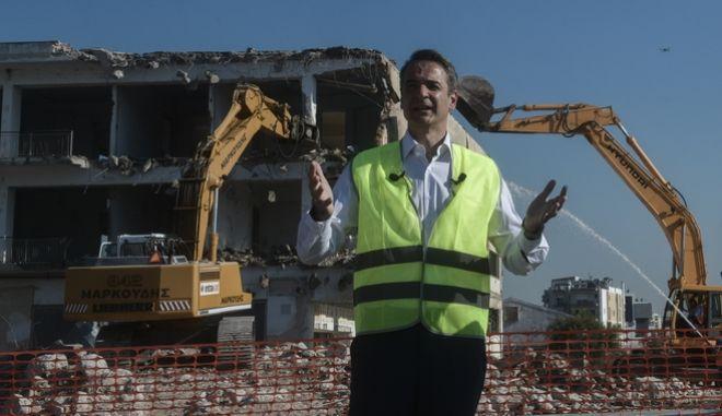 Τελετή έναρξης εργασιών στο πρώην αεροδρόμιο του Ελληνικού, παρουσία του Πρωθυπουργού, Κυριάκου Μητσοτάκη.
