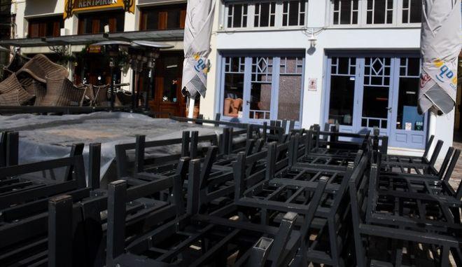 Κλειστό κατάστημα στο Ναύπλιο εν μέσω lockdown