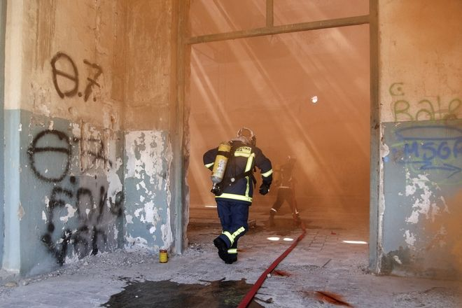 Exercise of the Fire Department at Drapetsona, in Pireaus, on 20April, 2018 /       ,  20 , 2018