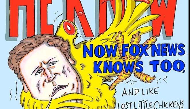 Η γελοιογραφία που δημοσίευσε ο Τζιμ Κάρρεϊ στον λογαριασμό του στο Twitter