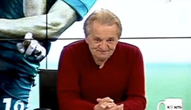 Ο δημοσιογράφος Γιώργος Γεωργίου στην τηλεοπτική εκπομπή του