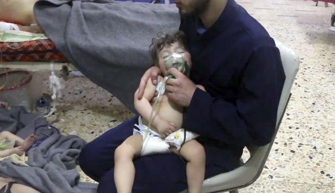 Επίθεση με χημικά στη Ντούμα, της Συρίας