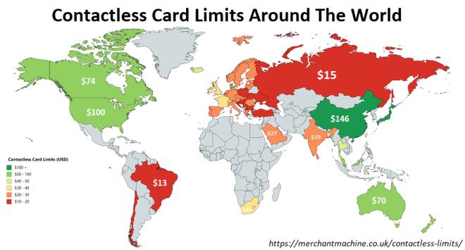Αυτά είναι τα όρια ανέπαφων συναλλαγών με κάρτες σε όλο τον κόσμο