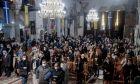 Γεμάτος πιστούς ο  Άγιος Δημήτριος στη Θεσσαλονίκη