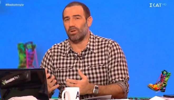 Ο Αντώνης Κανάκης στην εκπομπή Ράδιο Αρβύλα στο ΣΚΑΙ
