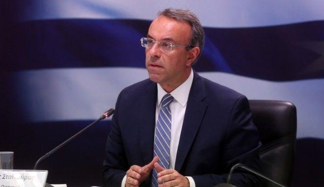 Ο Υπουργός Οικονομικών, Χρήστος Σταϊκούρας (EUROKINISSI/POOL ΑΠΕ-ΜΠΕ/ ΑΛΕΞΑΝΔΡΟΣ ΜΠΕΛΤΕΣ)