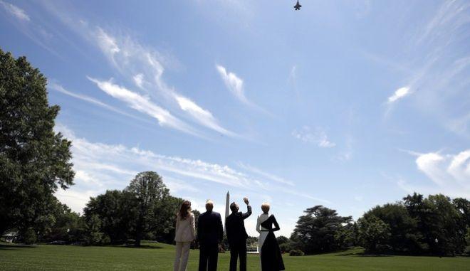 Επίδειξη των F-35 πάνω από το Λευκό Οίκο