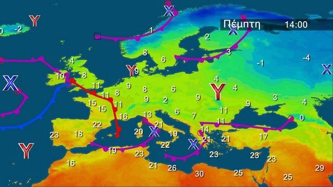 Καιρός: Καταιγίδες και χαλαζοπτώσεις με ισχυρούς ανέμους από την Πέμπτη
