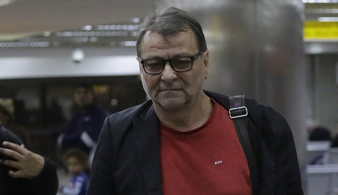The former Italian communist militant Cesare Battisti arrives from the city of Campo Grande to the Sao Paulo international airport, in Sao Paulo, Brazil, Saturday, Oct. 7, 2017. Italian lawmakers are demanding Brazil extradite former Italian communist militant Battisti after he was caught near the Bolivian border in an apparent attempt to flee the country. Battisti was detained for questioning Wednesday after he was stopped near the border carrying about $7,500 in cash in foreign currencies. He was later taken into custody, but late Friday, a judge ordered his release, pending the investigation. (AP Photo/Nelson Antoine)