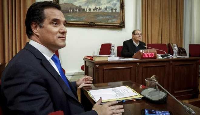 Εξέταση του πρώην υπουργού Υγείας Άδωνι Γεωργιάδη στην Εξεταστική Επιτροπή της Βουλής για τη διερεύνηση σκανδάλων στο χώρο της Υγείας κατά τα έτη 1997- 2014, την Τρίτη 6 Φεβρουαρίου 2018. (EUROKINISSI/ΓΙΩΡΓΟΣ ΚΟΝΤΑΡΙΝΗΣ)