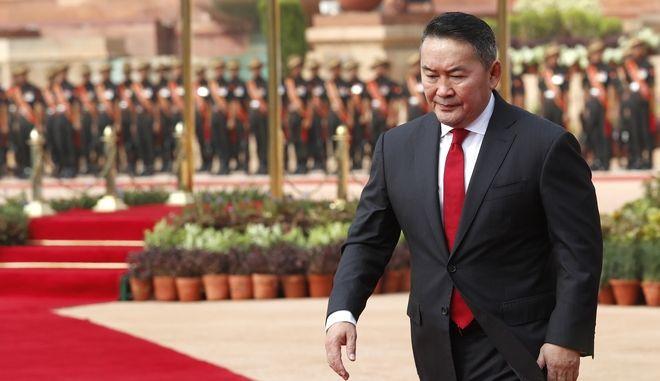 Ο πρόεδρος της Μογγολίας Μπατούλγκα Χαλτμάα