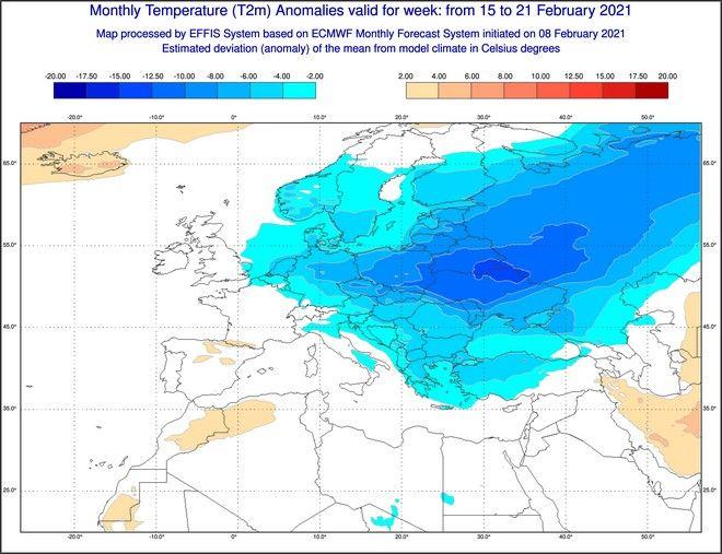 Καιρός: Η πρόβλεψη για χιόνια στην Ευρώπη και από το κλιματικό μοντέλο του ECMWF