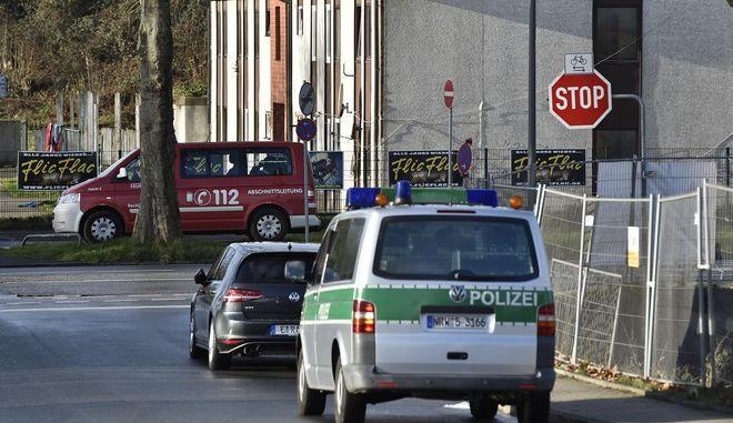 Όχημα της αστυνομίας στο Ρέκλινγκχάουζεν της Γερμανίας
