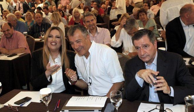 Φώφη Γεννηματά, Σταύρος Θεοδωράκης και Γιώργος Καμίνης