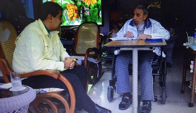Μαδούρο μετά τη συνάντηση με τον Φιντέλ Κάστρο: Είναι πάντα γεμάτος αισιοδοξία και δύναμη