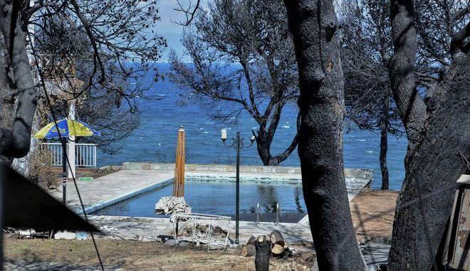 Εικόνα από το Μάτι Αττικής δύο εβδομάδες μετά την φωτιά στην ανατολική Αττική