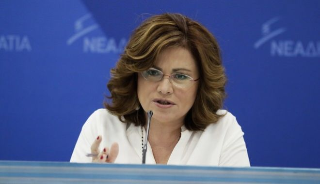 Η εκπρόσωπος Τύπου της Νέας Δημοκρατίας Μαρία Σπυράκη