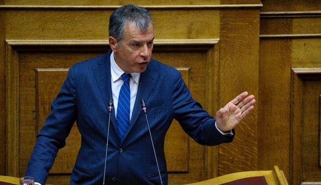 Ο επικεφαλής του Ποταμιού στη συζήτηση επί της προτάσεως του πρωθυπουργού για παροχή ψήφου εμπιστοσύνης στην κυβέρνηση
