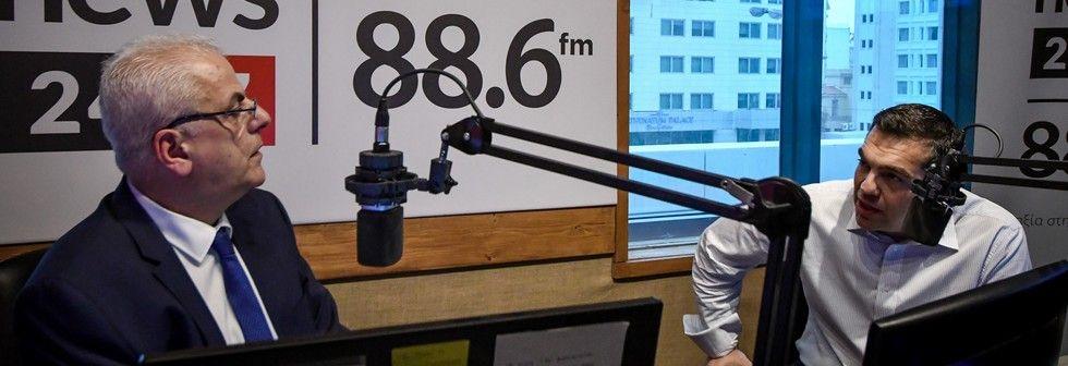 Ο Αλέξης Τσίπρας στο ραδιόφωνο του News 24/7 στους 88,6
