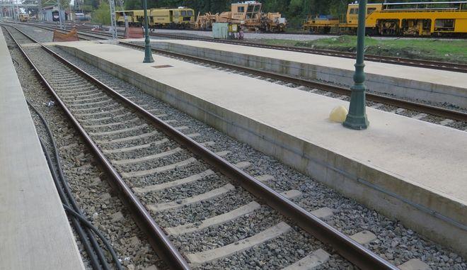 Σταθμός τρένου. Φωτό αρχείου.