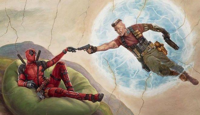 Ο Deadpool μαζί με τον Cable
