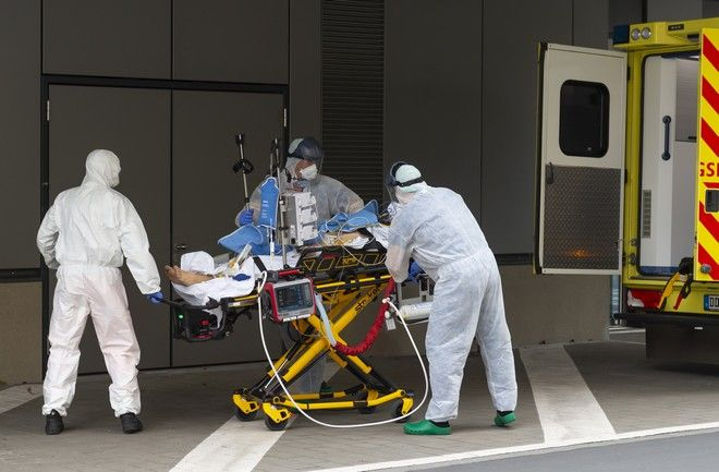 Μεταφορά ασθενούς σε νοσοκομείο.