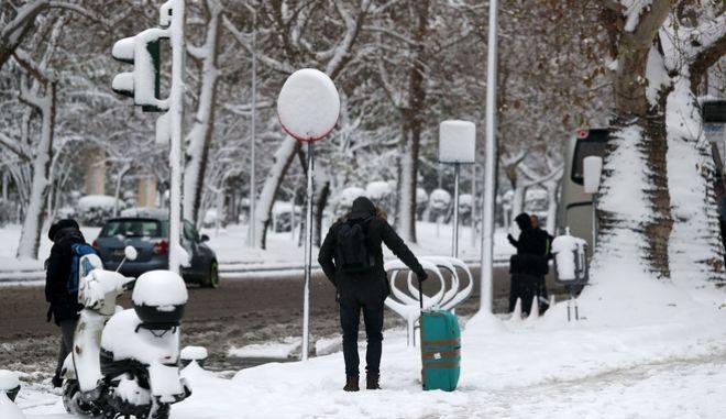 Χιόνι στο κέντρο της Θεσσαλονίκης