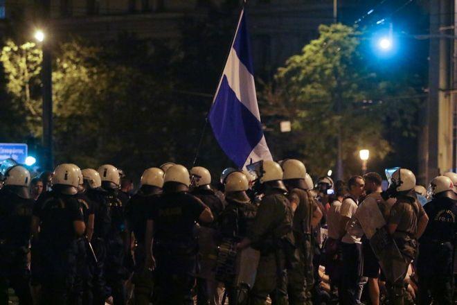 Ένταση στην συγκέντρωση για την Μακεδονία
