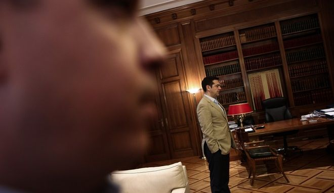 Meeting between the Greek Prime Minister Alexis Tsipras and the artistic director of Hellenic Festival Jan Fabre, in Athens, on Mar. 30, 2016 /               , ,  30 , 2016