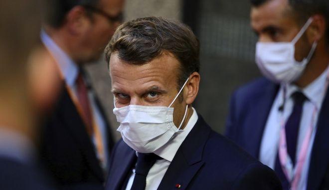 Ο πρόεδρος της Γαλλίας Εμμανουέλ Μακρόν στη Σύνοδο Κορυφής