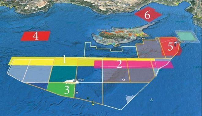 """Νέα τουρκική Navtex """"δεσμεύει"""" το μεγαλύτερο μέρος των τεμαχίων 6 και 7 της κυπριακής ΑΟΖ"""