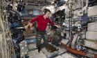 Η Anne McClain στον Διεθνή Διαστημικό Σταθμό τον Ιανουάριο του 2018