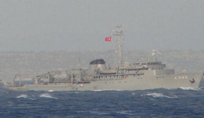 Τουρκικό ερευνητικό σκάφος ανοικτά του Καστελόριζου